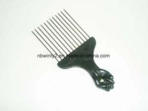 Fist Handle with Metal Pin Comb pictures & photos