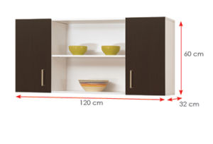 Modern MFC Laminated Cupboard Wooden Kitchen Cabinets (HX-DR466) pictures & photos