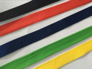 Woven Embroidery Medal Ribbon with Logos (GZHY-MR-001) pictures & photos