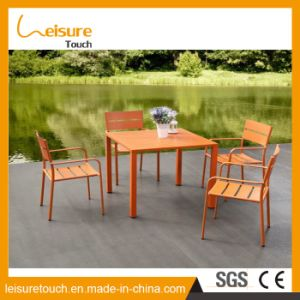 Durable Easy Installation Powder Coating Aluminum Table Set Patio Table and Chairs in Vigorous Orange Cast Garden Outdoor Furniture pictures & photos