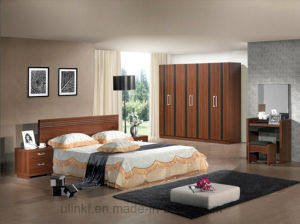 Living Room Furniture Solid Wood Double Bed Wholesale (HX-LS002) pictures & photos