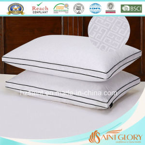 Cheap Price Pure Cotton Pillow Protector White Embossed Pillow Cover with Gusset pictures & photos