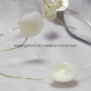 Outdoor Garden Decorative LED Sea Shell Fairy Light in Silver Wire Coin Battery Operated pictures & photos