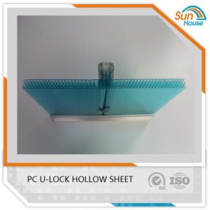 Aluminum Connector U Lock PC Sheet Hollow Polycarbonate Plastic