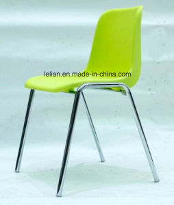Poly Shell Stack Chair with Metal Leg (LL-0002) pictures & photos