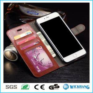 Leather Wallet Flip Case for iPhone Samsung Huawei with Card Holder pictures & photos