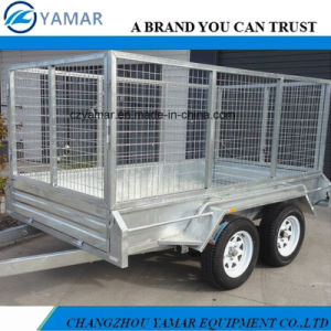 Dual Axle Box Trailer with Cage pictures & photos