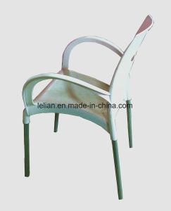 Phin Stackable Arm Chair with Colorful Seat and Chromed Legs (LL-0047B) pictures & photos