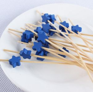 Eco Natural Bamboo Fruit Skewer/Stick/Pick (BC-BS1063) pictures & photos