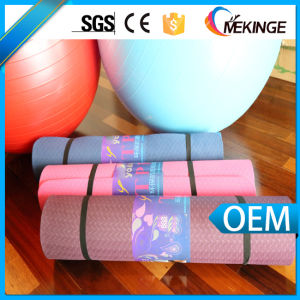 Chloride-Free Custom TPE Yoga Mat Polyurethane Yoga Mat pictures & photos