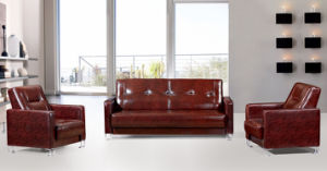 Office Furniture Modern Leather Sofa with Metal Leg pictures & photos