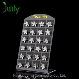 Wholesale Zircon Silver Stud Earrings Bridesmaid Flower Earrings pictures & photos