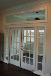 Double Glass Commercial French Doors New Design Aluminium Fancy Doors pictures & photos