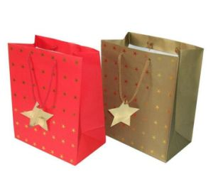 Hot Sale Customized High Quality Paper Hot Foil Stamping Packing Bag pictures & photos