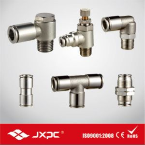 Metal One Touch Pneumatic Fitting with Nickel Plated pictures & photos