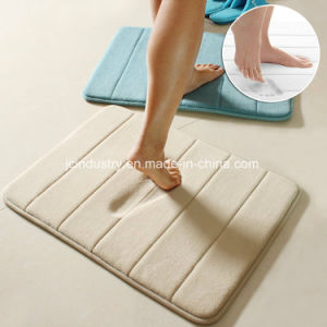 Non-Slip Bathroom Floor Mat with Memory Foam Filling