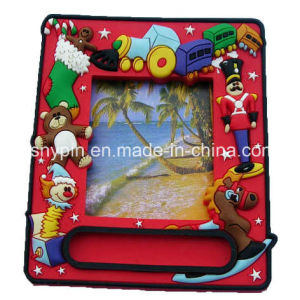 Soft PVC Christmas Magnet Photo Frame 3D pictures & photos