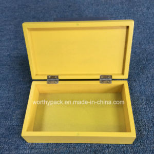 Golden Color Painted Wooden Gift Box pictures & photos
