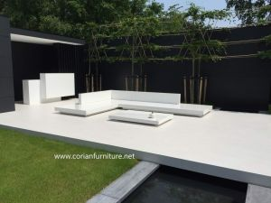 Corian Built Custom Sized Outdoor Garden Bench pictures & photos