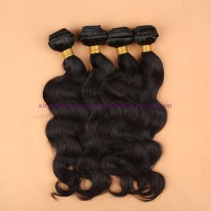 8A Grade Virgin Unprocessed Hair Mongolian Body Wave Bundles with Lace Closure Human Virgin Hair pictures & photos