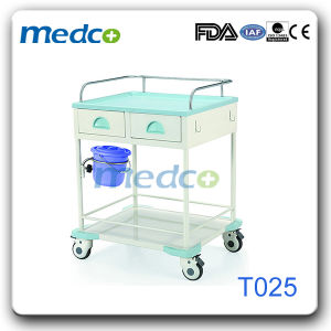 Hospital ABS& Stainless Steel Treatment Nursing Trolley pictures & photos