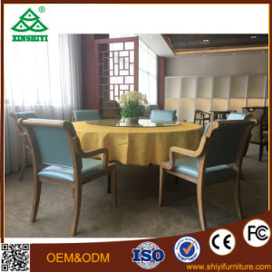 Round Table with Six Chairs for Party in Dining Room Hotel Furniture pictures & photos
