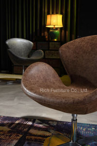 Designer Hot Sale Leisure Metal Swivel Swan Chair pictures & photos