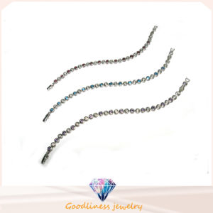 2017 Newest Woman′s Fashion 925 Silver Jewelry Round Stone Bracelet (BT6663) pictures & photos