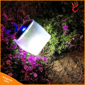 Waterproof PVC 10LED Foldable Inflatable Solar Power Camping Lantern Light for Indoor Emergency Camping Hiking Lighting pictures & photos