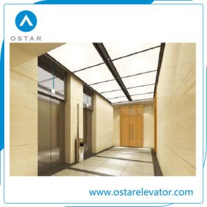 450~1000kg Machine Roomless Passenger Elevator with Golden Titanium Etching Cabin pictures & photos