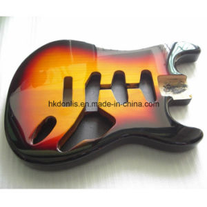 Gloss Finished Sunburst 2 Piece Alder Strat Guitar Body pictures & photos