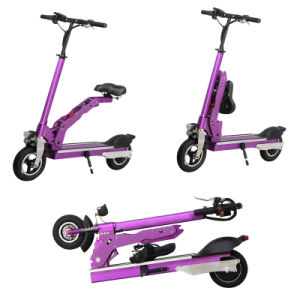 Fashionable Electric Two Wheels Folding Scooter with Saddle pictures & photos