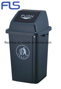 High-Quality 60L Plastic Rubbish Bin with Swing Top pictures & photos