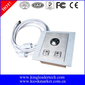 Panel Mounted Stainless Steel Trackball with Diameter 25mm, Left&Right Click Buttons