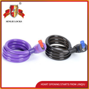 Combination Motorcycle&Bicycle Spiral Cable Lock pictures & photos