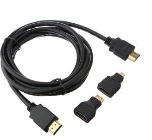 HDMI to HDMI/Mini HDMI/Micro HDMI Cable pictures & photos