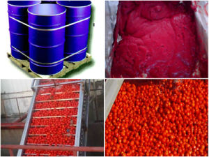 Xinjiang Aseptic Package Tomato Paste Concentrate Brix 28-30% Hot Break pictures & photos