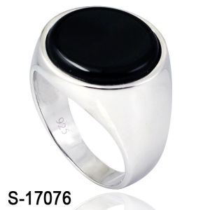 Fashion Jewelry 925 Silver Man Ring Plain Silver Ring with Agate pictures & photos