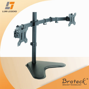 Double Joint Steel Articulating Monitor Arm Vesa Mount