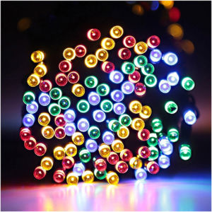 Multi Colored 100 LED Solar Lights string pictures & photos