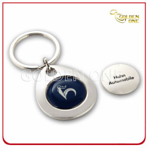Custom Printed & Laser Metal Trolley Coin Key Ring pictures & photos