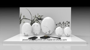 MDF Counter Top Wedding Display Stand with Egg pictures & photos