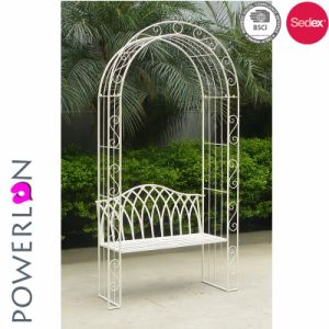 Metal Iron Garden Arch with Seat pictures & photos
