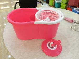Microfiber Spin Mop Cleaning System - Easy Press Magic Floor Mop Bucket Set with 2 Microfiber Mop Heads - Customized Color pictures & photos