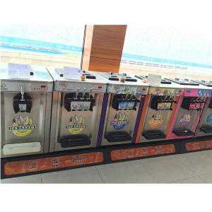 New Commercial Low Cost Floorstand Wholesale 3 Flavors Soft Ice Cream Machine Price with Ce pictures & photos