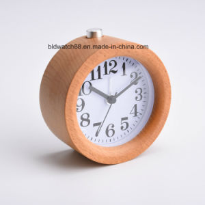 2017 China Factory Wooden Small Antique Silicone Wood Alarm Clock pictures & photos