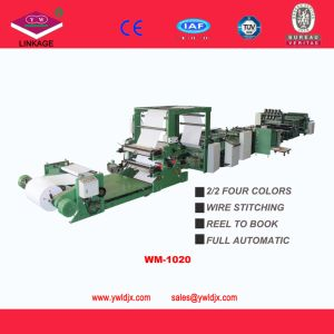 Student Exercise Book Making Machine Flexo Printing and Saddle Stitching Reel to Notebook Machine Ld1020 pictures & photos