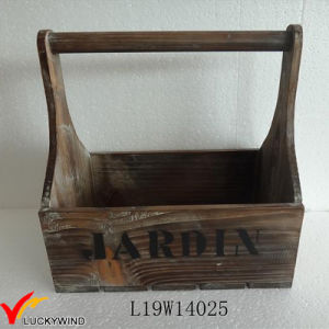 Small Handmade Wooden Basket Country Style pictures & photos