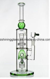 2 Layer Perc Tortoise Decoration Glass Smoking Water Pipe pictures & photos
