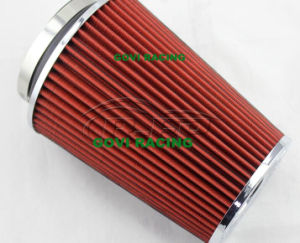 230mm Height Red Car Air Filter with 76mm/89mm/102mm Universal pictures & photos